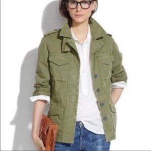 Madewell Outbound Utility Jacket in Olive Green S